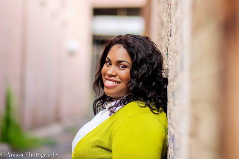 Author Angie Thomas; photo credit to Anissa Hidouk