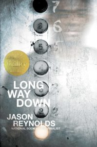 The book cover of Long Way Down by Jason Reynolds