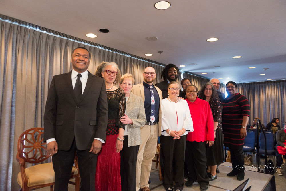The Walter Award winners and honorees pose with the Walter Award judging committee. Photo courtesy of the Library of Congress.