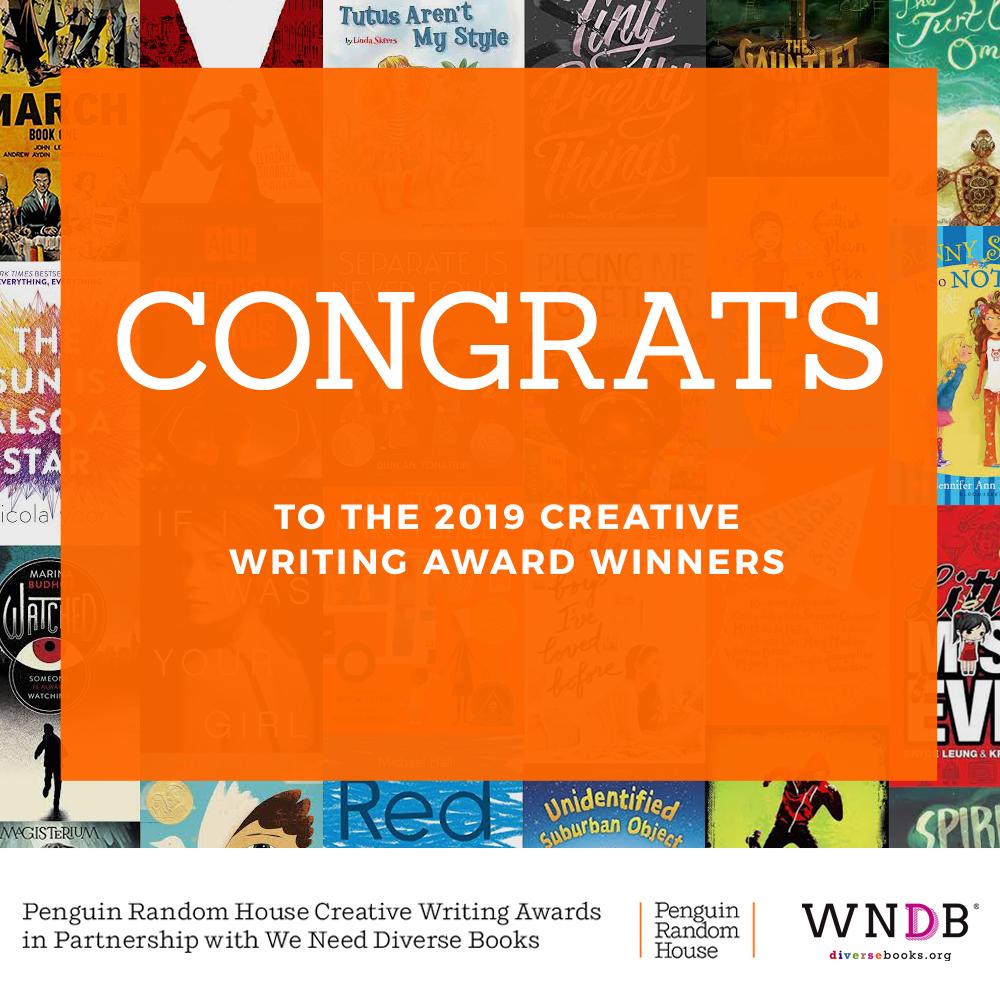 WNDB and Penguin Random House Announce 2019 Creative Writing Awards Winners