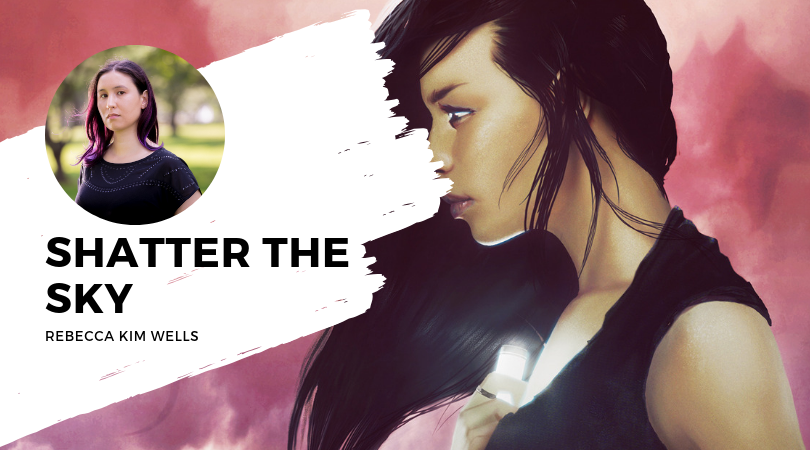 Shatter the Sky by Rebecca Kim Wells cover and author photo