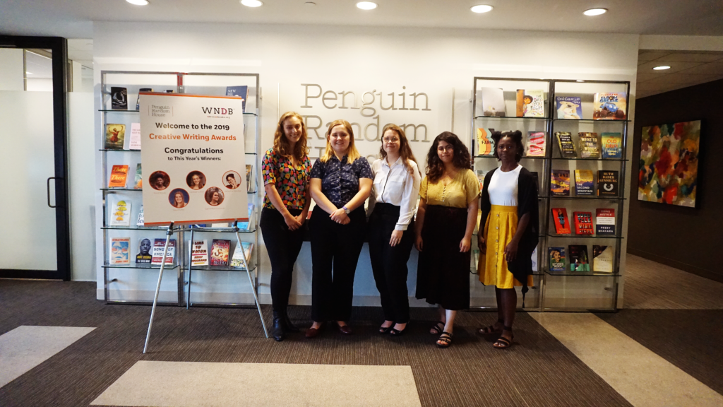 Penguin Random House and WNDB Celebrate Creative Writing Awards Winners photo of the five winners