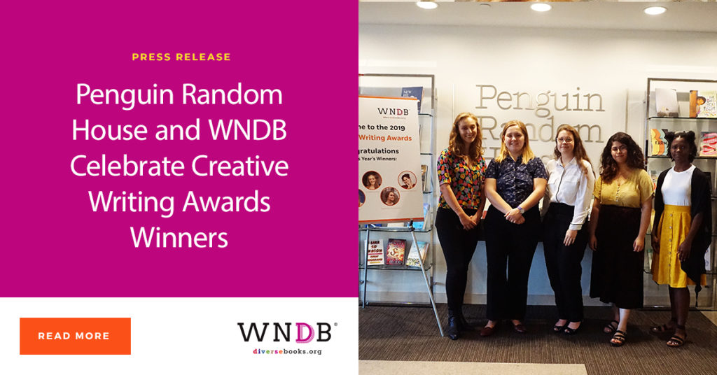 Penguin Random House and WNDB Celebrate Creative Writing Awards Winners Blog Header Graphic Photo of Winners