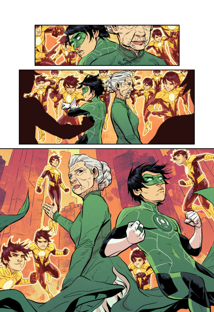 Green Lantern: Legacy inside comic pages