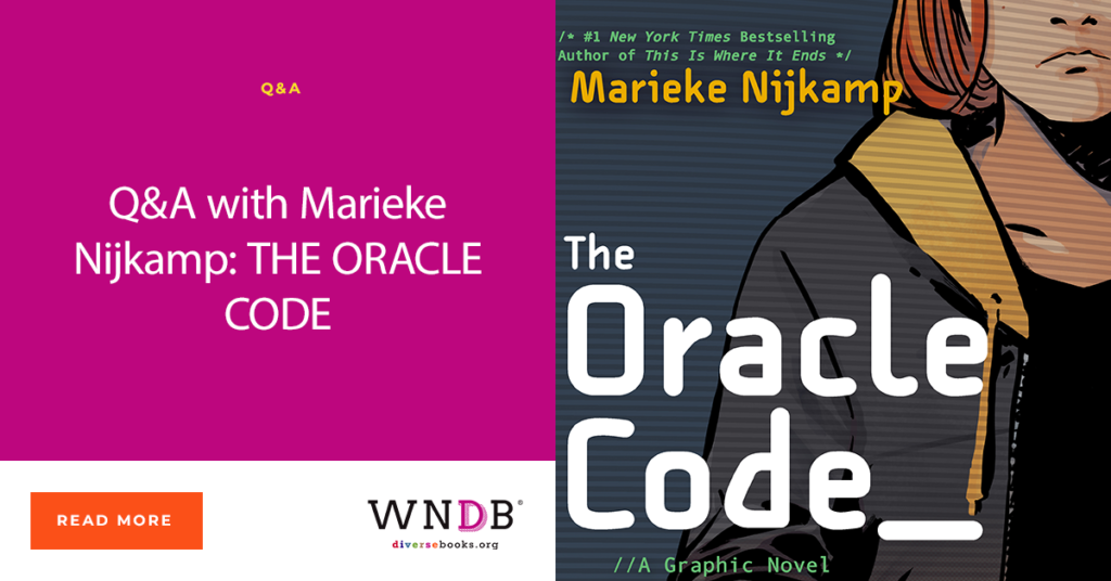 Q&A with Marieke Nijkamp: THE ORACLE CODE book cover WNDB blog