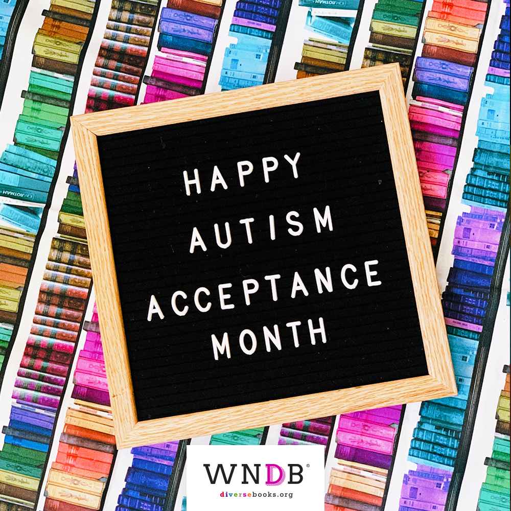 Happy Autism Acceptance Month letterboard graphic