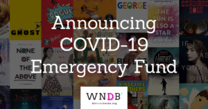 We need diverse books emergency fund for diverse creatives in children's publishing logo