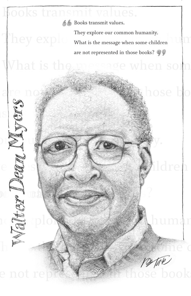 Don Tate Walter Dean Myers Awards art black and white