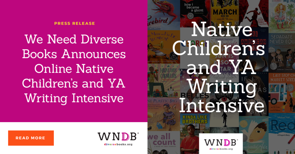 We Need Diverse Books Announces Online Native Children's and YA Writing Intensive we need diverse books blog header