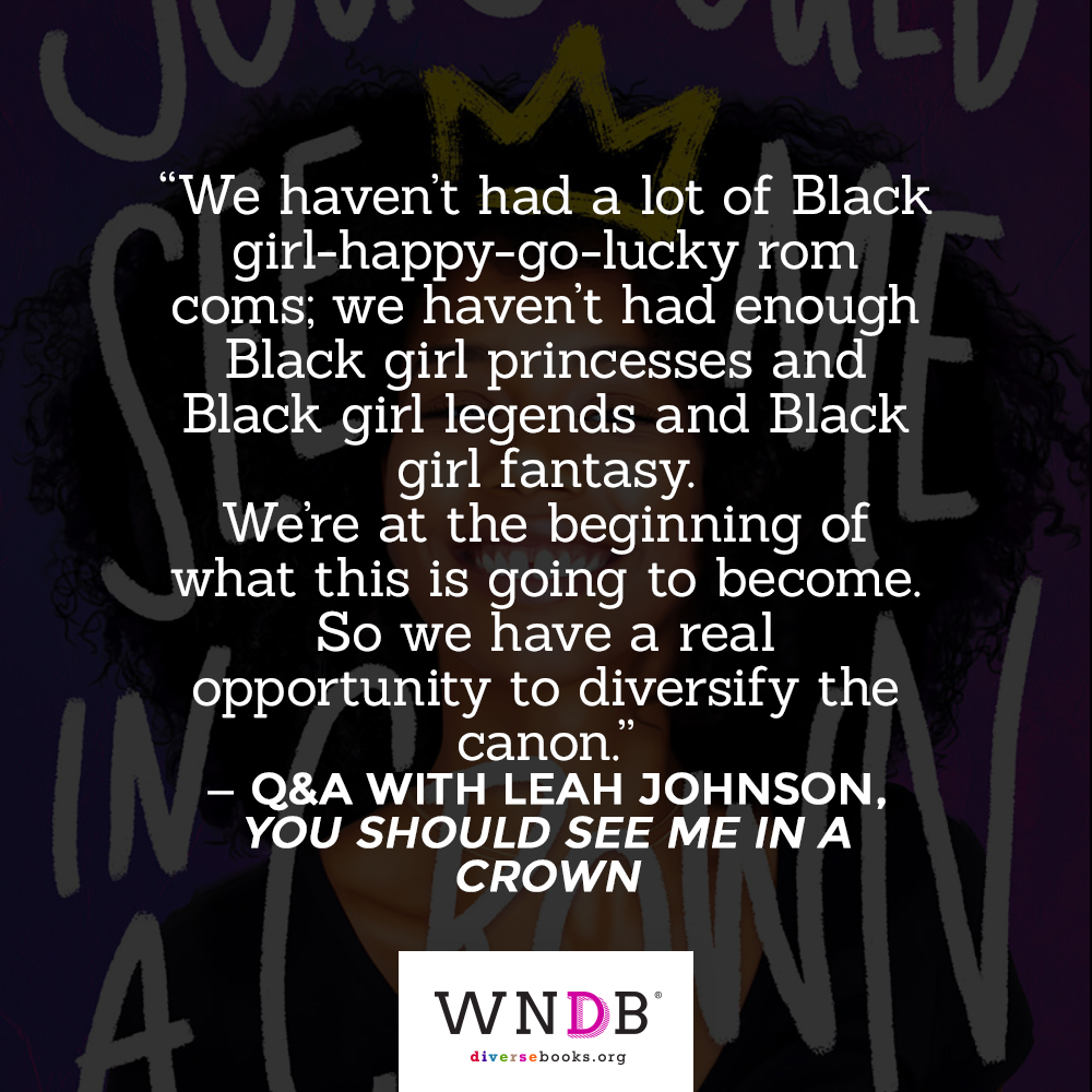 """We haven't had a lot of Black girl-happy-go-lucky rom coms; we haven't had enough Black girl      princesses and Black girl legends and Black girl fantasy. We're at the beginning of what this is going to become. So we have a real opportunity to     diversify the canon."" quote from the blog"