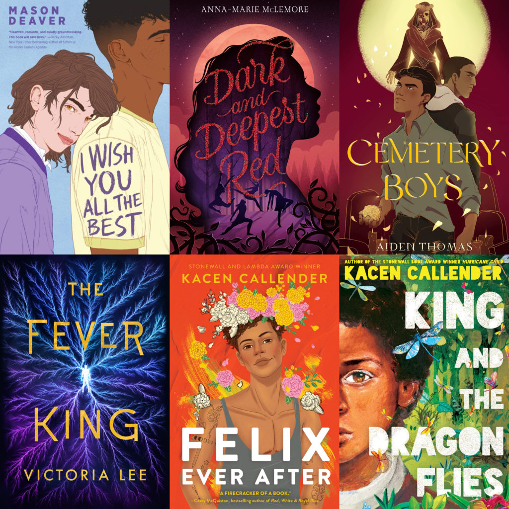 6 book covers Pride month Victoria Lee Kacen Callender Aiden Thomas Mason Deaver Anna-Marie McLemore