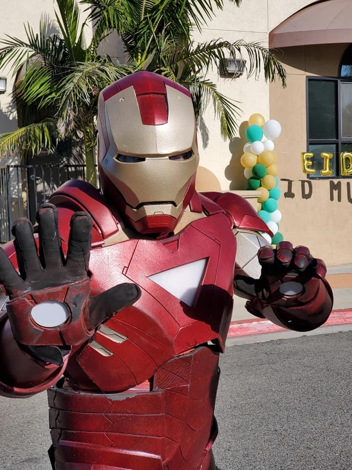 Iron Man at Eid celebration