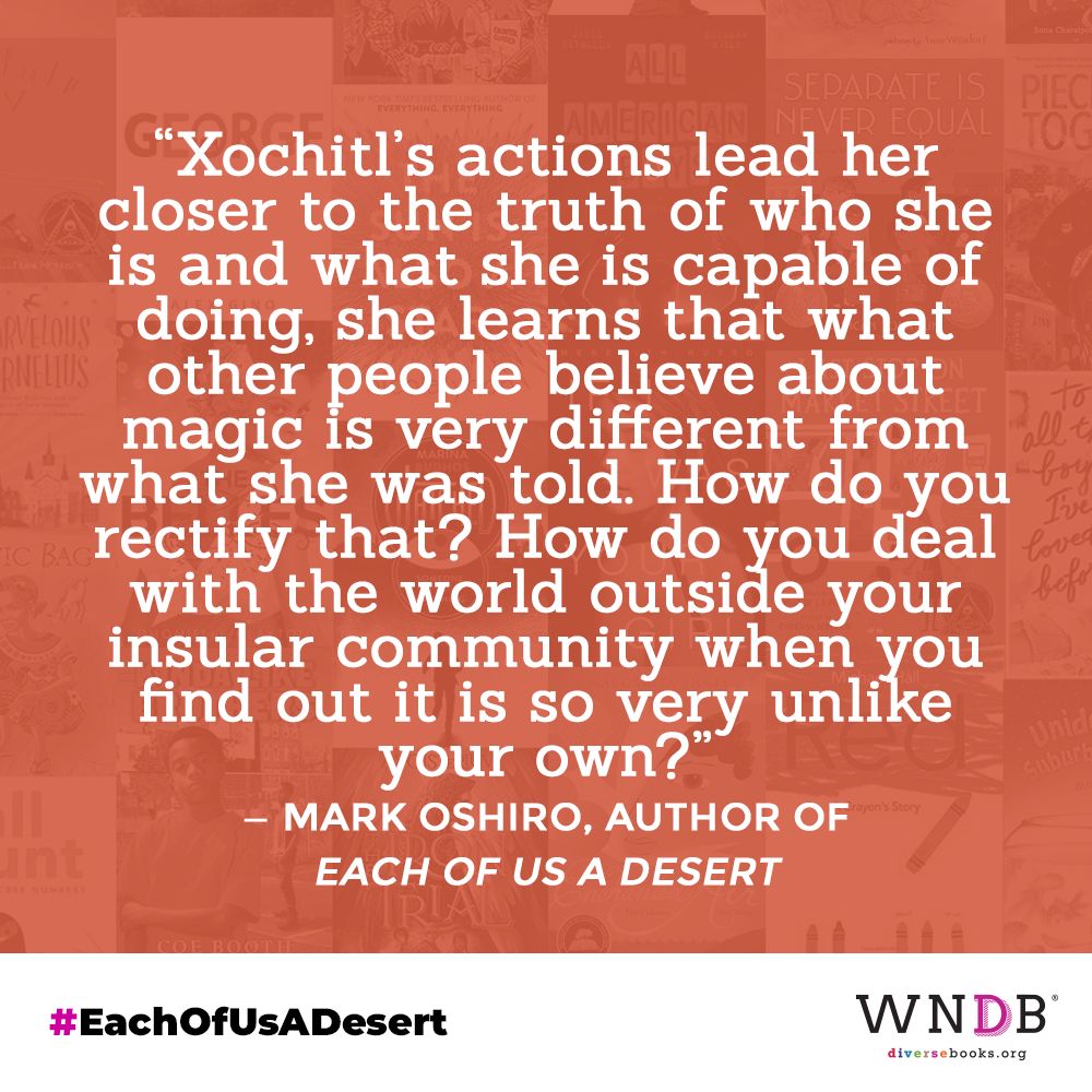 Xochitl's actions lead her closer to the truth of who she is and what she is capable of doing, she learns that what other people believe about magic is very different from what she was told. How do you rectify that? How do you deal with the world outside your insular community when you find out it is so very unlike your own?