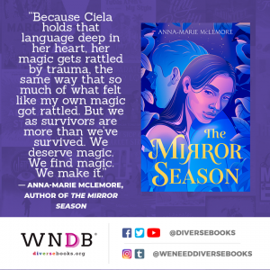 Because Ciela holds that language deep in her heart, her magic gets rattled by trauma, the same way that so much of what felt like my own magic got rattled. But we as survivors are more than we've survived. We deserve magic. We find magic. We make it.