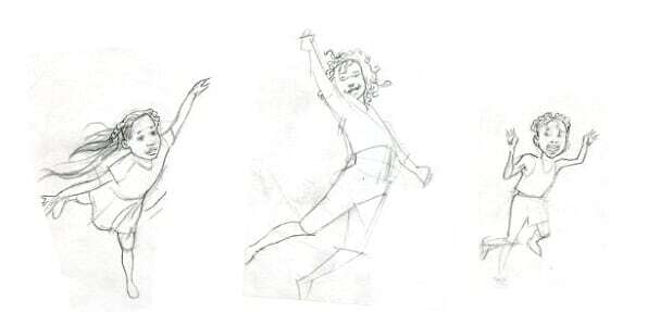 Sisters of the Neversea illustration progression 1