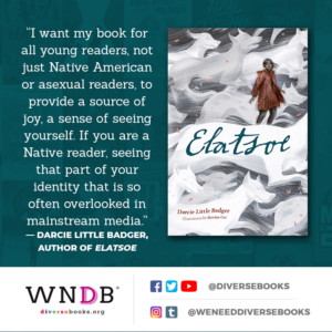 I want my book for all young readers, not just Native American or asexual readers, to provide a source of joy, a sense of seeing yourself. If you are a Native reader, seeing that part of your identity that is so often overlooked in mainstream media.