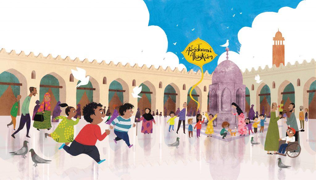 pages 6-7, Al-Hakim Mosque, Cairo, Egypt. Art copyright credit Hatem Aly
