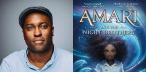 B.B. Alston's headshot and cover art for AMARI AND THE NIGHT BROTHERS