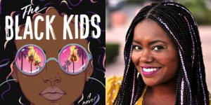 Christina Hammonds Reed's headshot and cover art for THE BLACK KIDS