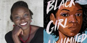 Echo Brown's headshot and cover art for BLACK GIRL UNLIMITED