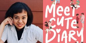 Emery Lee's headshot and cover art for MEET CUTE DIARY