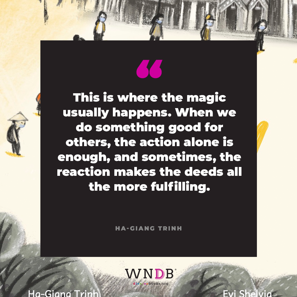 This is where the magic usually happens. When we do something good for others, the action alone is enough, and sometimes, the reaction makes the deeds all the more fulfilling.