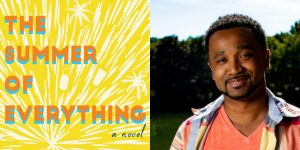 Julian Winters's headshot and cover art for THE SUMMER OF EVERYTHING