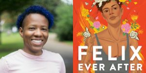 Kacen Callender's headshot and cover art for FELIX EVER AFTER