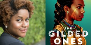 Namina Forna's headshot and cover art for THE GILDED ONES