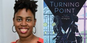 Paula Chase's headshot and cover art for TURNING POINT