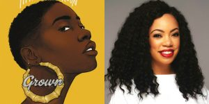 Tiffany D. Jackson's headshot and cover art for GROWN