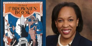 Valerie L. Williams-Sanchez's headshot and cover art for THE BROWNIES BOOK
