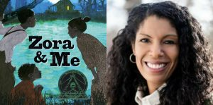 Victoria Bond's headshot and cover art for ZORA AND ME