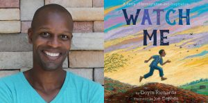 Doyin Richard's headshot and the cover art for WATCH ME