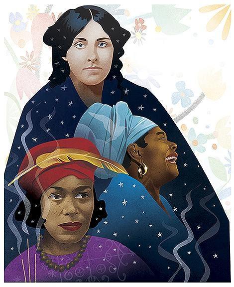 Louisa May Alcott, Maya Angelou and Zora Neale Hurston