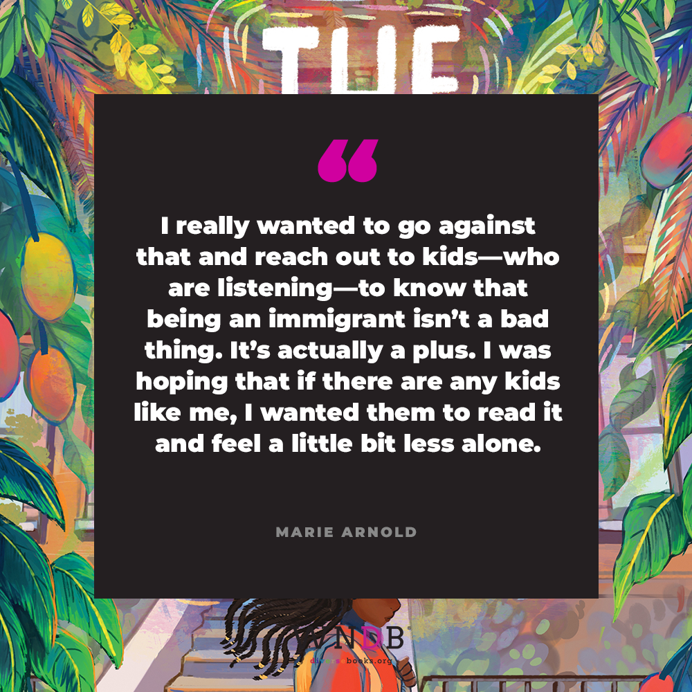 """I really wanted to go against that and reach out to kids—who are listening—to know that being an immigrant isn't a bad thing. It's actually a plus. I was hoping that if there are any kids like me, I wanted them to read it and feel a little bit less alone."