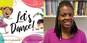Valerie Bolling's headshot and the cover art for LET'S DANCE!