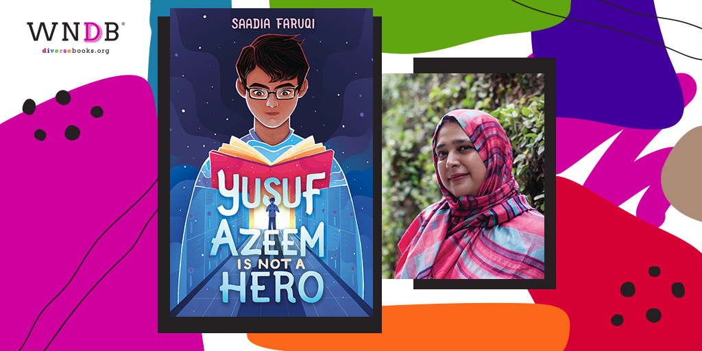 Cover Reveal for Yusuf Azeem is Not a Hero by Saadia Faruqi