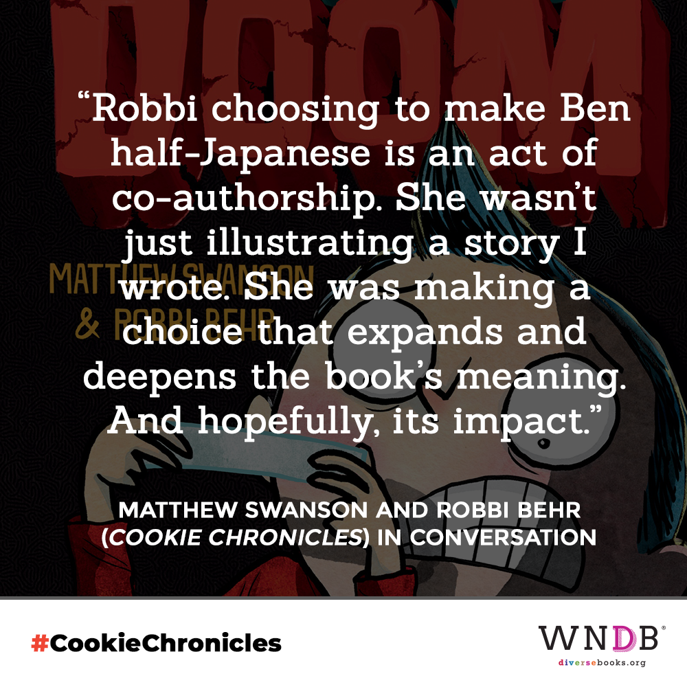 Robbi choosing to make Ben half-Japanese is an act of co-authorship. She wasn't just illustrating a story I wrote. She was making a choice that expands and deepens the book's meaning. And hopefully, its impact.