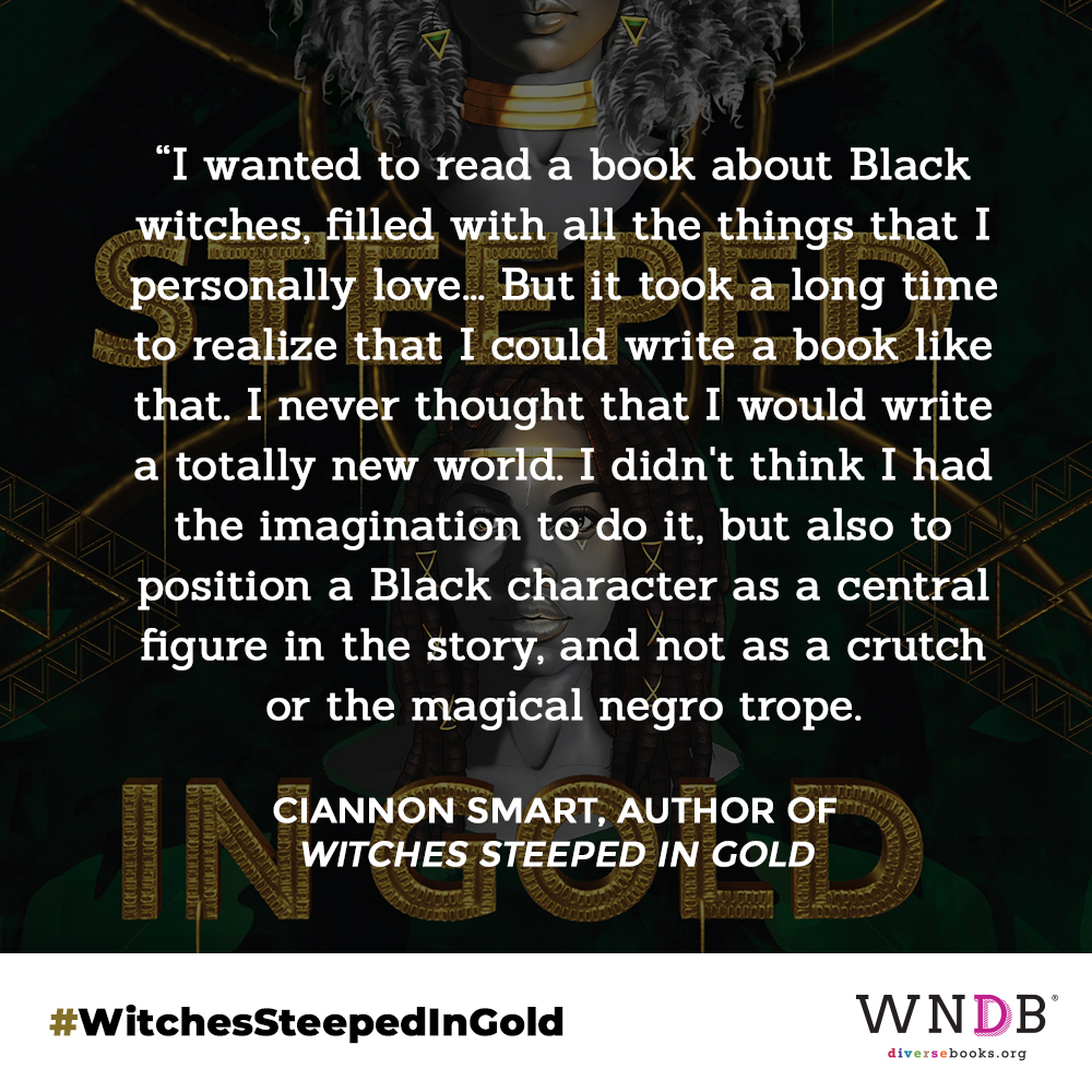 I wanted to read a book about Black witches, filled with all the things that I personally love. A rich world, a morally grey protagonist, twists and turns, and darkness but also light. But it took a long time to realize that I could write a book like that. I never thought that I would write a totally new world. I didn't think I had the imagination to do it, but also to position a Black character as a central figure in the story, and not as a crutch or the magical negro trope.