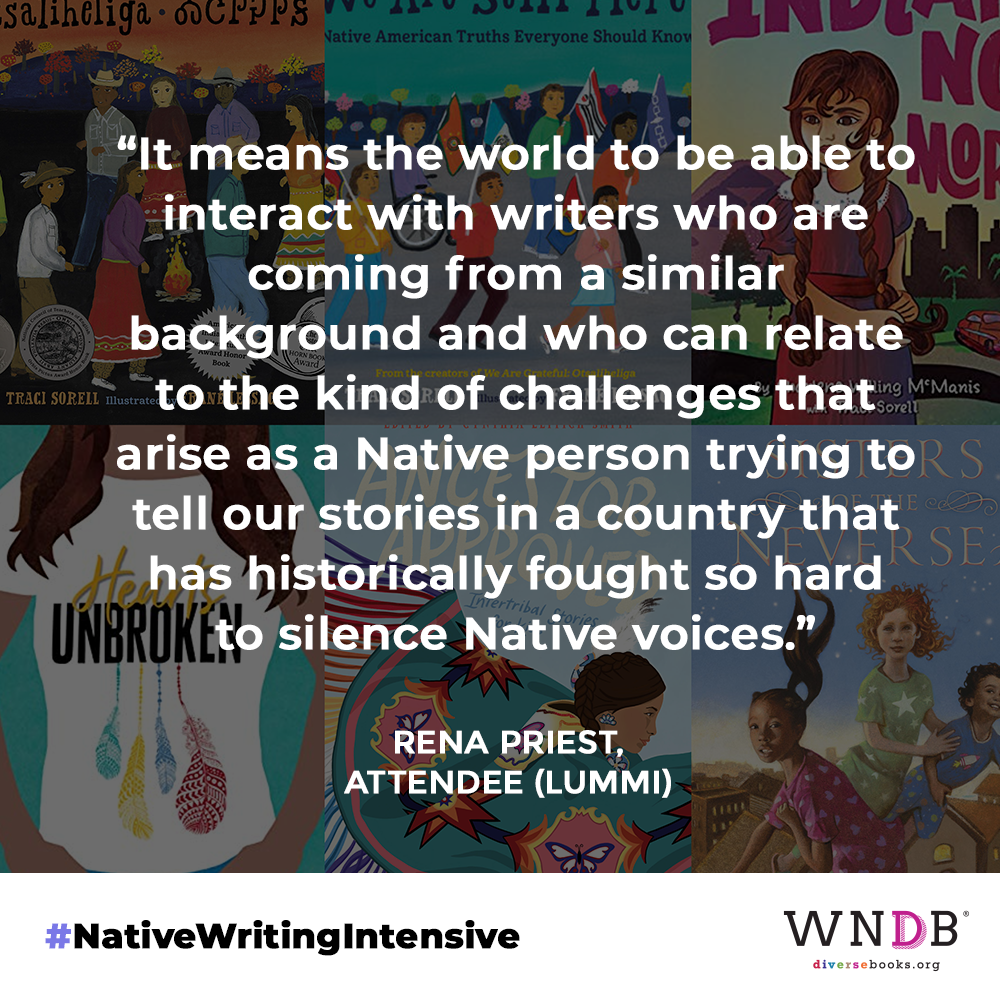 It means the world to be able to interact with writers who are coming from a similar background and who can relate to the kind of challenges that arise as a Native person trying to tell our stories in a country that has historically fought so hard to silence Native voices.
