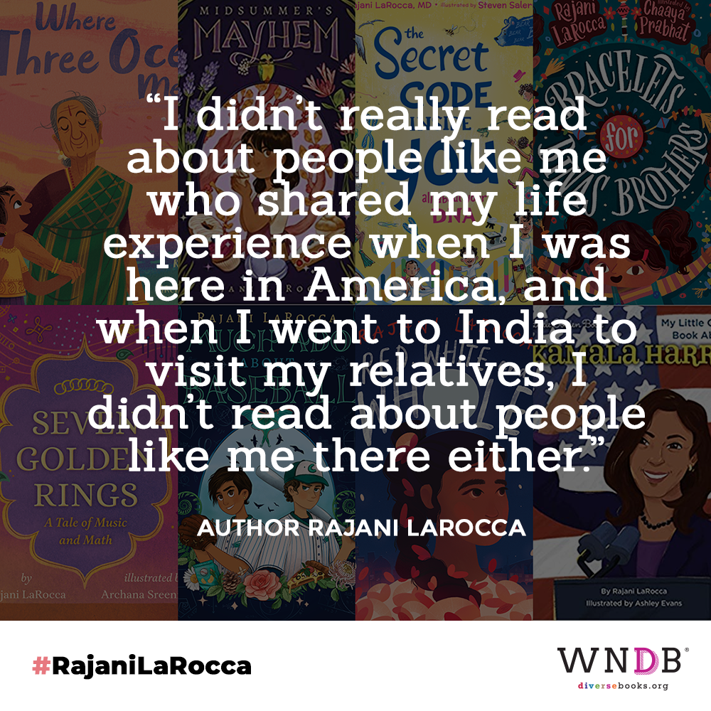 """""""I didn't really read about people like me who shared my life experience when I was here in America, and when I went to India to visit my relatives, I didn't read about people like me there either"""