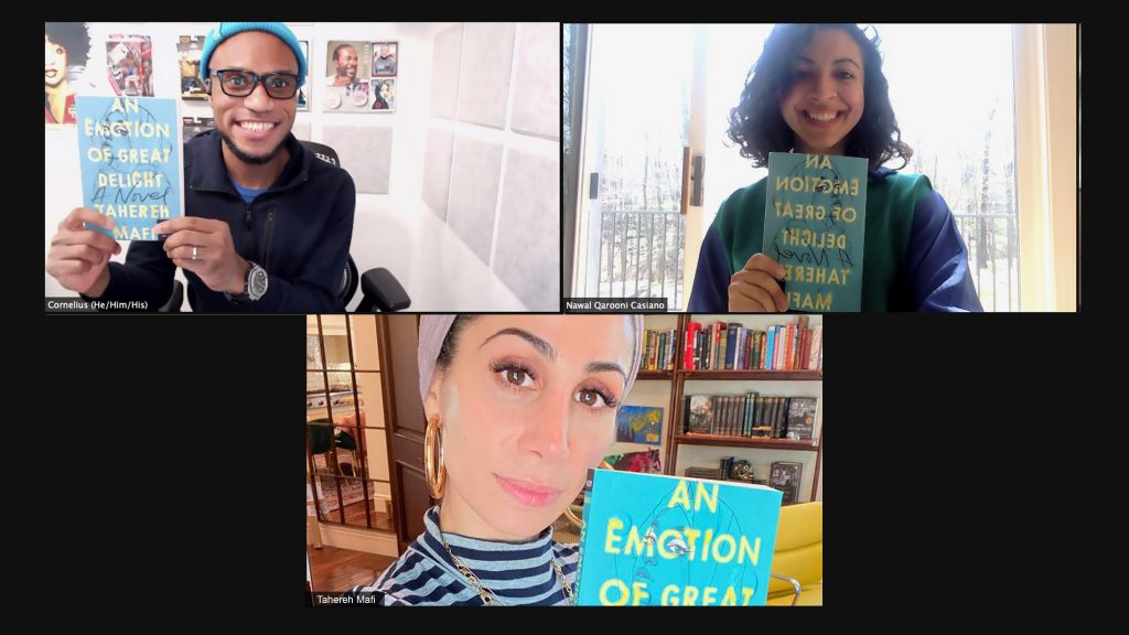 An Emotion of Great Delight image of Nawal, Cornelius, and Tahereh