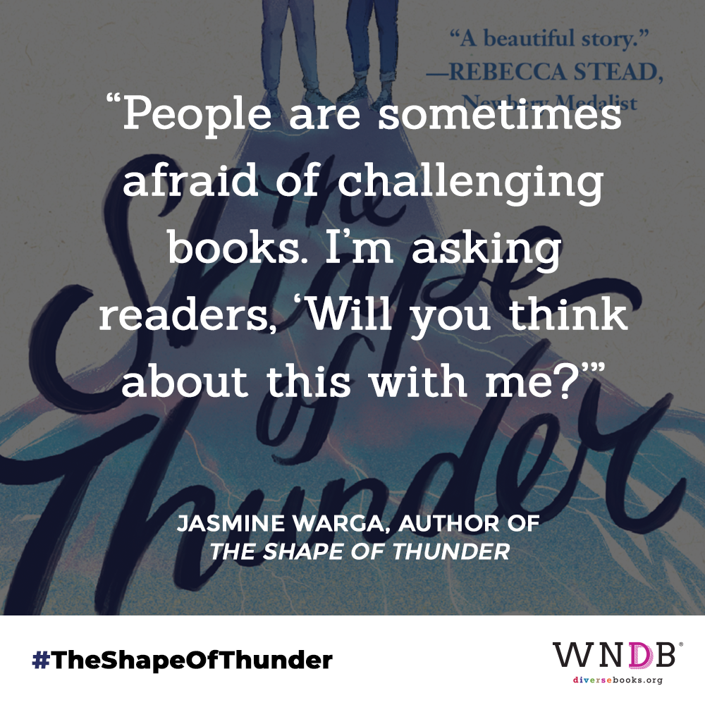 """""""People are sometimes afraid of challenging books,"""" she said. """"I'm asking readers, 'Will you think about this with me?'"""""""