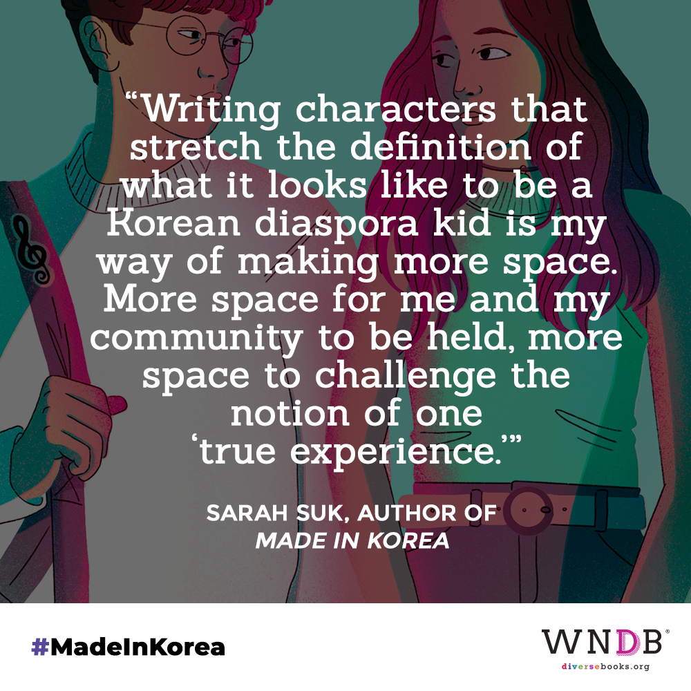 Writing characters that stretch the definition of what it looks like to be a Korean diaspora kid is my way of making more space. More space for me and my community to be held, more space to challenge the notion of one 'true experience.'