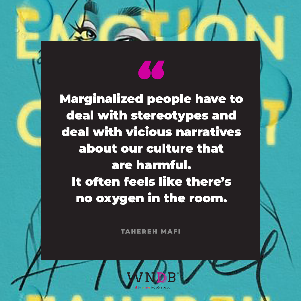 """""""Marginalized people have to deal with stereotypes and deal with vicious narratives about our culture that are harmful. It often feels like there's no oxygen in the room."""""""
