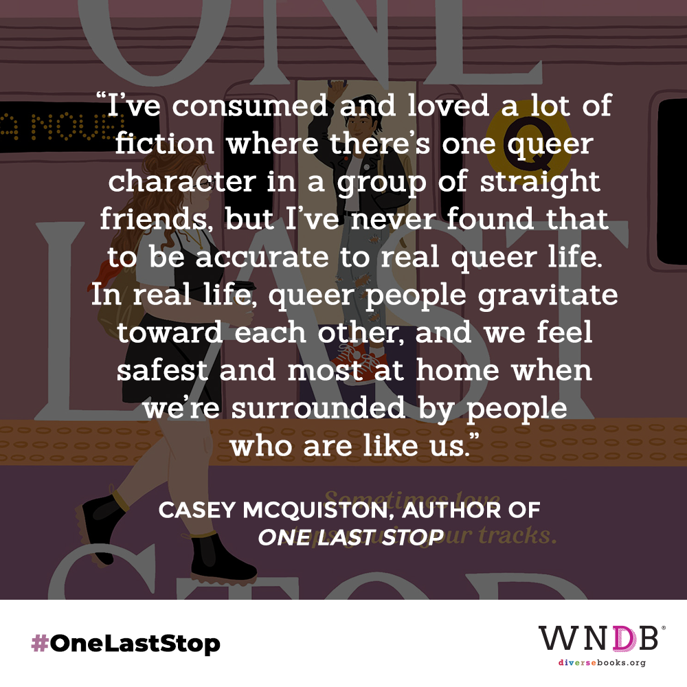 I've consumed and loved a lot of fiction where there's one queer character in a group of straight friends, but I've never found that to be accurate to real queer life. In real life, queer people gravitate toward each other, and we feel safest and most at home when we're surrounded by people who are like us.