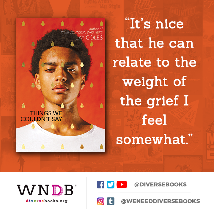 """""""It's nice that he can relate to the weight of the grief I feel somewhat."""""""