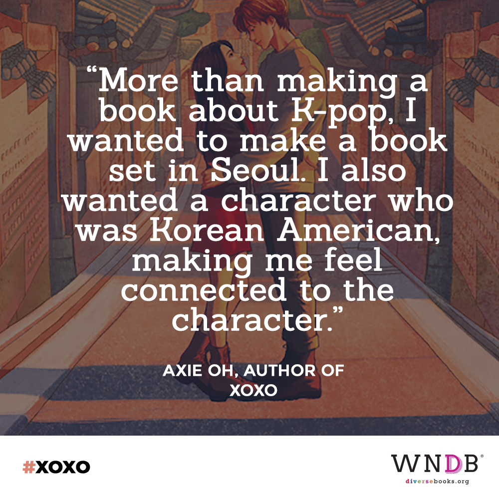 More than making a book about K-pop, I wanted to make a book set in Seoul. I also wanted a character who was Korean American, making me feel connected to the character.