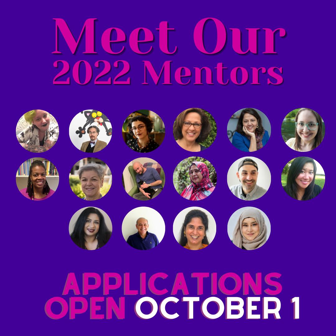 Meet our 2022 Mentors. Applications open October 1